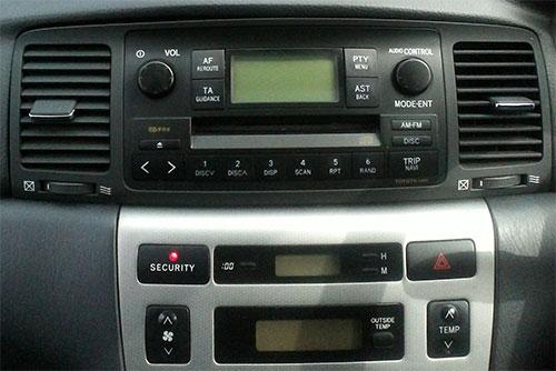 Toyota Corolla E12 Car CD Stereo Double Din Fascia Fitting Wiring Kit