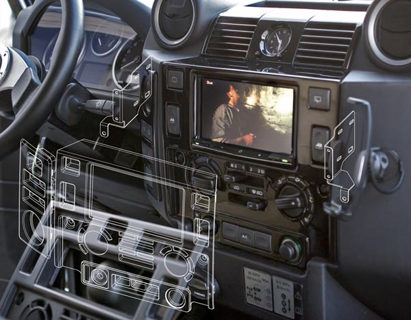 land rover defender tdci wiring diagram stereo double din fascia fitting mounting kit matt black  stereo double din fascia fitting mounting kit matt black