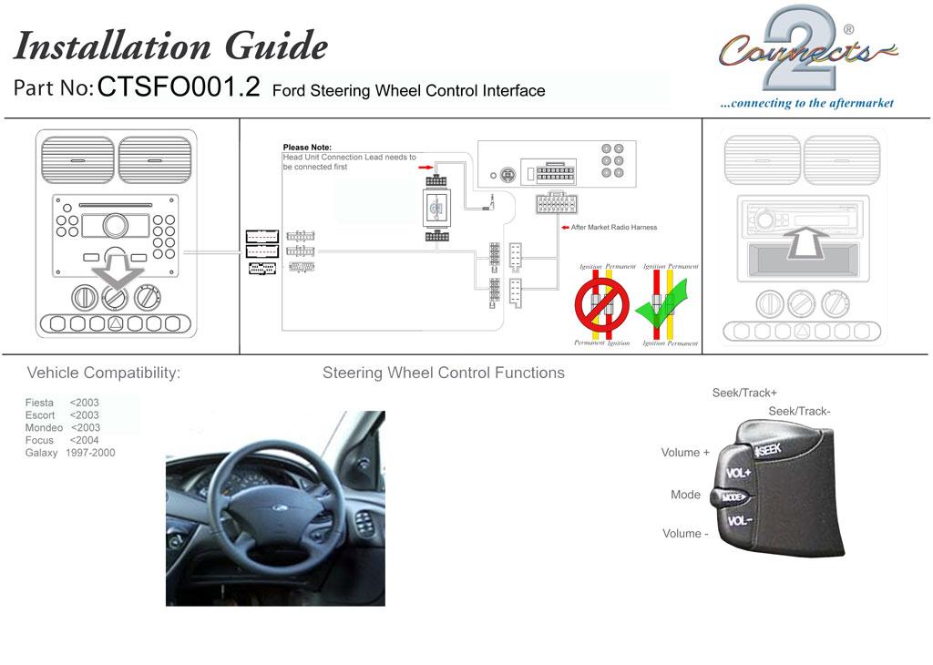 Ctsfo0012 Pioneer Steering Wheel Stalk Control Adaptor For Ford Rhebaycouk: 2001 Ford Focus Steering Column Wiring Diagram At Gmaili.net