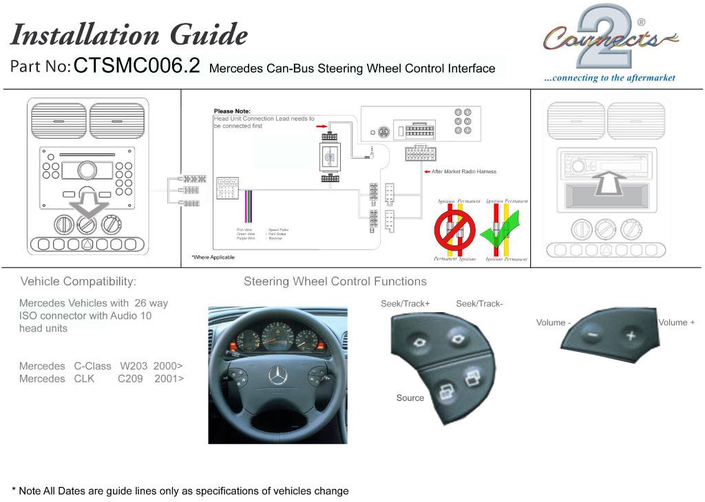 Pioneer Steering Stalk Control Adaptor For Mercedes C