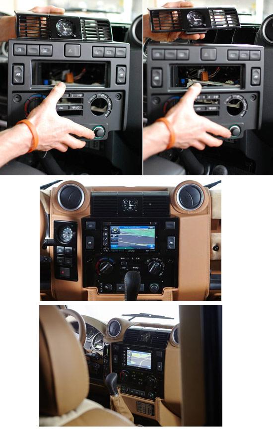 Land Rover Defender Stereo Per Auto Gruppo Fascia Doppio